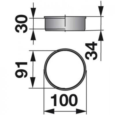 PVC-Buchse 56223600 zum Gelenk zu Kuhn Scheibenmäher