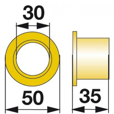 Büchse Kunststoff 06228402 zu Deutz-Fahr