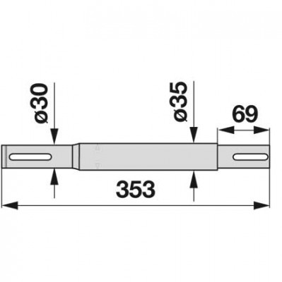 Antriebswelle 06563620 zu Deutz-Fahr horizontal
