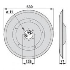 Gleitteller XD442K0 zu Deutz-Fahr Trommelmäher