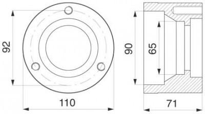 Gleittellernabe Z1100610 zu Deutz-Fahr Trommelmäher
