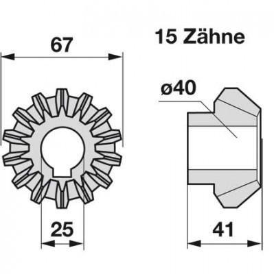 Kegelrad Z1100680 zu Deutz-Fahr