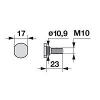 Rändelschraube 119.011 zu Pöttinger Scheibenmäher
