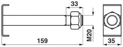Sonderschraube M 20x2,5