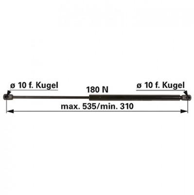 Gasdruckfeder 04415239 für Heckscheibe zu Deutz - Fahr