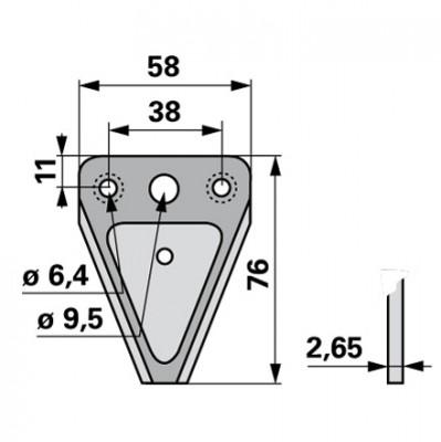 Aebi  Mähmesserklinge GB 2730