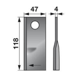 Kreiselmäherklingen rechts 133074 zu Fella Scheibenmäher