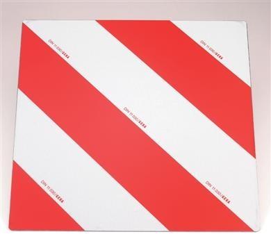 Warntafel verzinkt rot/weiß 423x423mm lt. DIN 11030