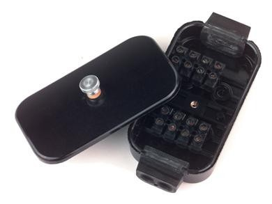 Kabelverbinder-Dose Kunststoff 8-polig- 1 Stück im Skin-Pack