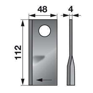 Kreiselmäherklingen rechts 434.970 zu Pöttinger Scheibenmäher
