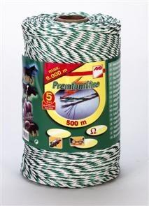 Premium-Litze 500m, weiß/grün, 3xCu 0,25 + 3xNi 0,20