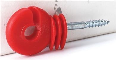 Ringisolator kompakt, kurze Stütze, rot,   50er Pack
