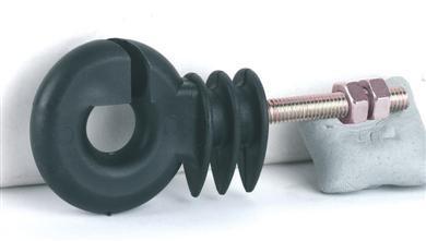 Ringisolator metrisch. Gewinde 30 x 6mm, schwarz