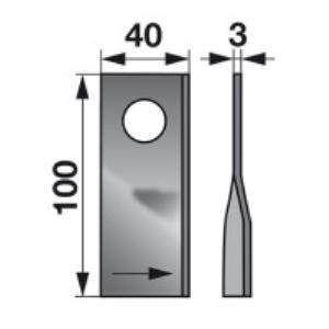 Kreiselmäherklingen links 580.29096 zu BCS Scheibenmäher