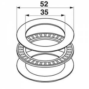 Axial-Nadellager 06215001 zu Deutz-Fahr