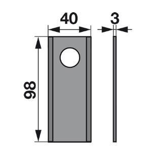 Kreiselmäherklingen 98D zu Marangon Scheibenmäher