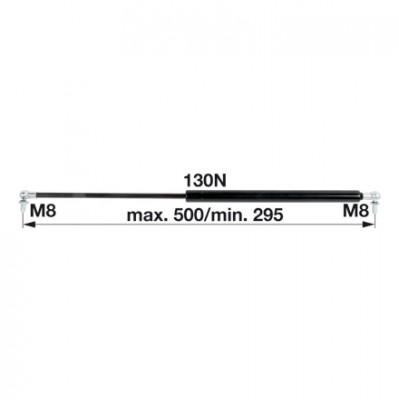 Gasdruckfeder AL114803 für Heckscheibe zu John Deere