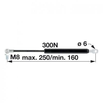 Gasdruckfeder AL28599 für Dachluke zu John Deere