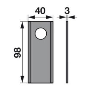 Kreiselmäherklingen 98D zu AMA Scheibenmäher