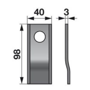 Kreiselmäherklingen 98P zu Fort Trommelmäher