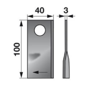 Kreiselmäherklingen rechts 580.29095 zu BCS Scheibenmäher
