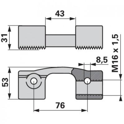 BCS Messerkopf komplett mit Einstellschraube 521.466650