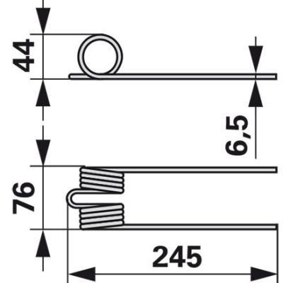 Heuerzinke F50.062.01 zu Vogel und Noot Bandheuer