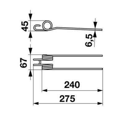 Bandrechenzinke MKW10.01.122 zu Reform 25 Stück