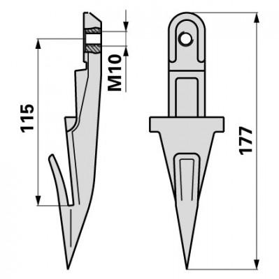 Bucher Einzelfinger für Mittelschnitt H150.115.230