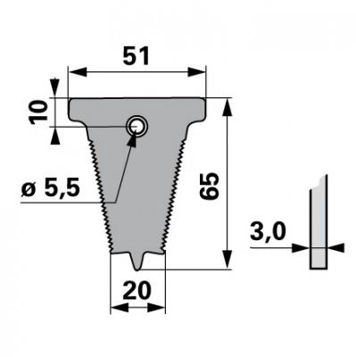 Bucher Fingerplatte gezahnt  für Mittelschnitt FS882