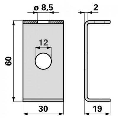 Bucher Reibplatte zu Messerkopf H150.051.770