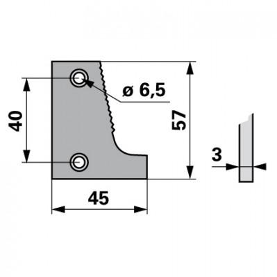 Bucher Schuhplatte links H150.043.050