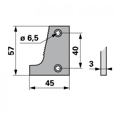 Bucher Schuhplatte rechts H150.043.060