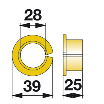 Bundbüchse 121024 zu Fella Scheibenmäher