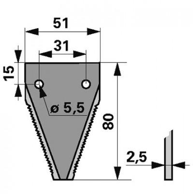 Casorzo Mähmesserklinge 25 Stück 26162