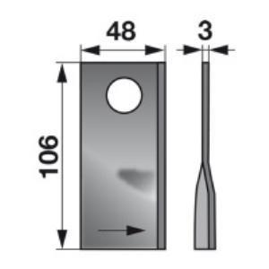 Kreiselmäherklingen rechts 104266.0 zu Claas Trommelmäher