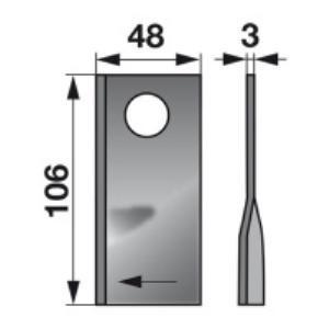 Kreiselmäherklingen links 104267.0 zu Claas Trommelmäher