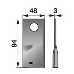 Kreiselmäherklingen rechts 104340.0 zu Claas Trommelmäher