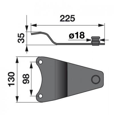 Messerhalter MC0395K0 zu Deutz-Fahr Trommelmäher