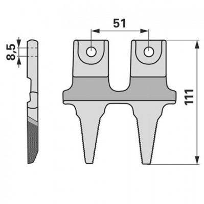 Aebi Doppelfinger zu BCS Laser Balken 52458713T