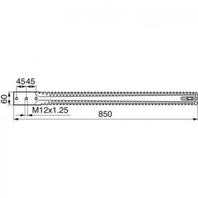 Silo - Doppelmesser 50480500 zu Kuhn