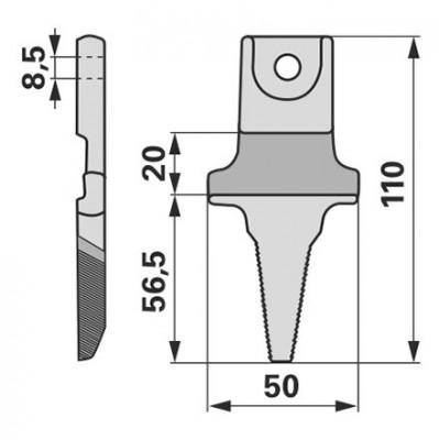 Aebi Einzelfinger zu BCS Laser Balken 524.58714T