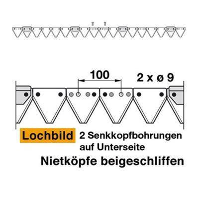 Mähmesser 137 cm Esm 257.0230 mit 18 Klingenspitzen