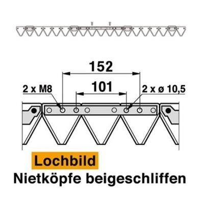 Mähmesser 145 cm Esm 259.1060 mit 19 Klingenspitzen