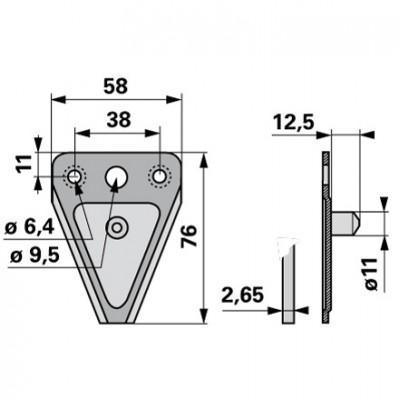 Messerklinge Esm Carbodux mit Pilz 12,5 mm 267118