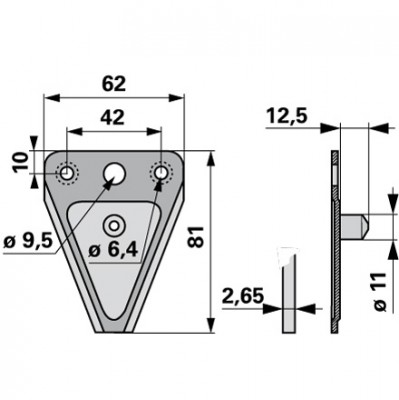 Messerklinge Esm Carbodux mit Pilz 12,5 mm 267.117