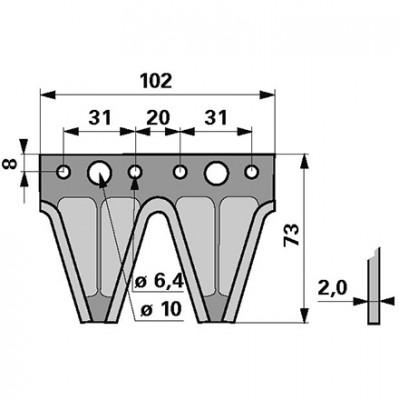Messerklinge Esm 344.123 Doppelklinge