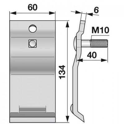 Esm Unterfeder mit Flachrundschraube M10 x 40 mm 267.2800