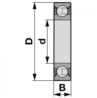 FAG Rillenkugellager 35 x 62 x 14 mm H009.060.070