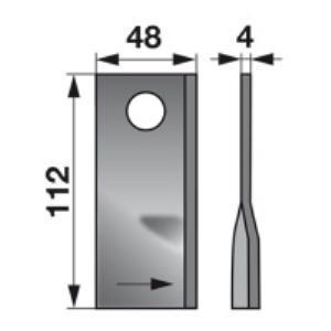 Kreiselmäherklingen links 134309 zu Fella Trommelmäher